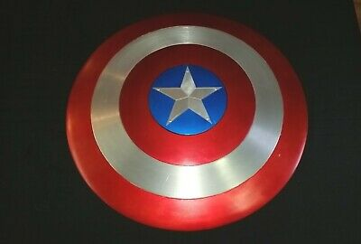 "Custom Captain America Shield 24"" Full Size Metal Prop Replica Avengers Cosplay`"