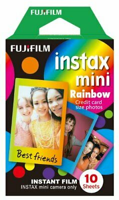 Fujifilm Instax Mini Rainbow Instant Film 10 Photos For Mini 90 8 25 7S Instant