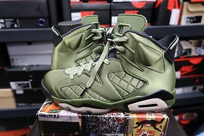 6c2405a889d Nike Air Jordan 6 Pinnacle Flight Jacket Green Satin size 9.5 VTG Vintage  Vnds