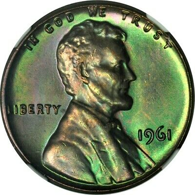 1961 1C Lincoln Cent NGC MS64BN **Kenosha Toned Cent Collection**