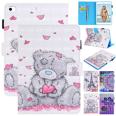 For iPad Mini 5th 2019 Case 9.7 2018 6th Gen Leather Magnetic Wallet Stand Cover