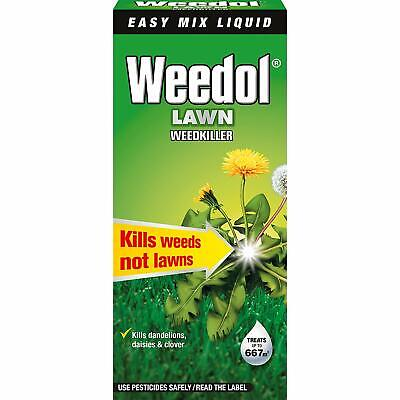WEEDOL Lawn Weedkiller (Formerly Verdone) Kills Weeds Not Lawns 1 litre or 500ml