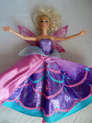 Mattel 2012 Barbie Mariposa Catania Fairy Princess butterfly with plastic wings