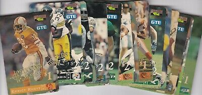 16 Card Printers Proof Phone Card Football Lot No Dupes See Description