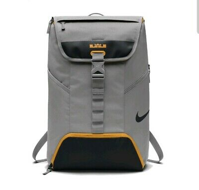 69552939d5977 NIKE LEBRON MAX AIR AMBASSADOR GREY/OrangeBASKETBALL BACKPACK BOOKBAG  BA5111 003