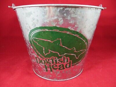 "Dogfish Head Galvanized Steel Ice Bucket  Approx. 9"" X 7"" High Great Cooler"