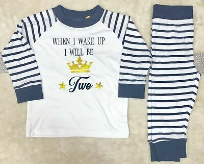 Birthday Pyjamas Age 1,2,3 Any name can be added personalised cotton