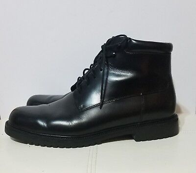 Cole Haan Country Mens Black Leather Lace Up Field Boots Sz 13 M