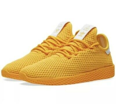 1a61a0049 adidas Mens Pharrell Williams Tennis HU Yellow Monochrome CP9767 Size 9