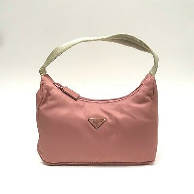 5e2de88317bc2f PRADA Mauve Pink ROSA Nylon Tessuto Sport Mini Hobo Bag Purse Shoulder  Handbag