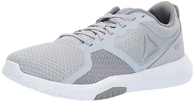Reebok Men's Flexagon Force Cross Trainer, Cold Grey/White/Neon Lime/Silver, 11