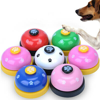 Lovely Footprint Pet Dog Cat Metal Training Bell Playing Toy Feeding Clickers Ba