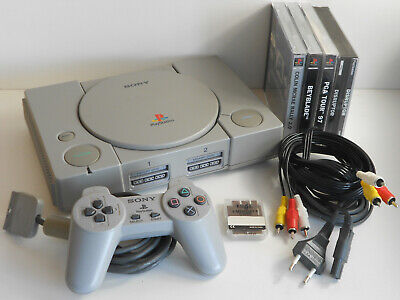 Playstation 1 / PS1 + Controller + Spiele + Kabel SCPH-1002