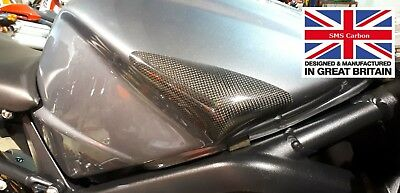 Triumph 675 Daytona Carbon Fibre Race Fuel Tank Sliders Protectors upto 2012