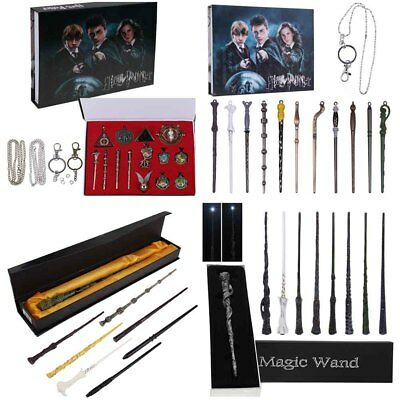 Harry Potter Hermione Dumbledore Voldemort Magic Wand Badge Necklace Cosplay Set
