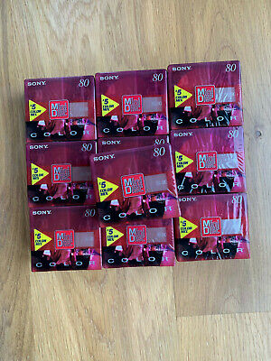50 Minidisc 80 min Sony color collection 7th generation neufs emballés sealed