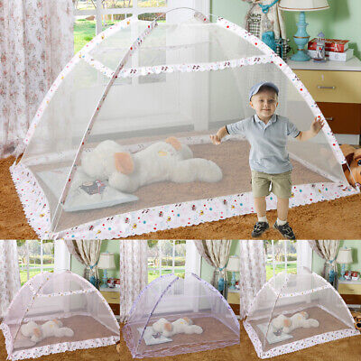 Folding Baby Infant Bed Pop-Up Mosquito Net Tent Kids Travel Bed Crib Canopy