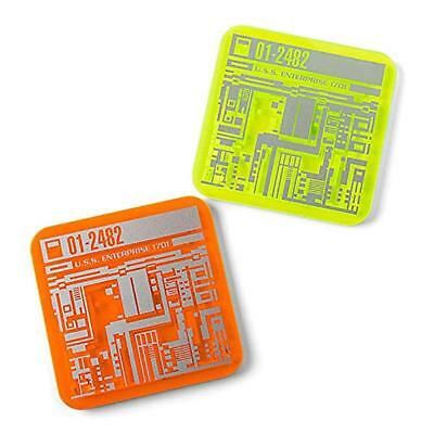 Star Trek The Next Generation Set of 2 Acrylic Coasters highly collectable