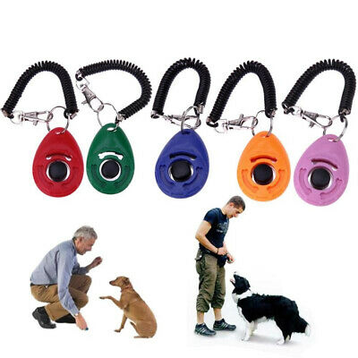 Pet Dog Training Clicker Puppy Cat Button Click Trainer Obedience Aid Wrist Acce
