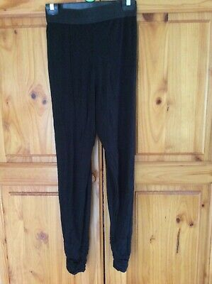 GIRL'S KYLIE M&Co BLACK HAREM PANTS TROUSERS FULL LENGTH AGE 13 / 13+ YEARS