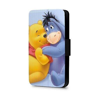 Cute Eeyore Winnie The Pooh Bear Faux Leather Flip Phone Case Cover