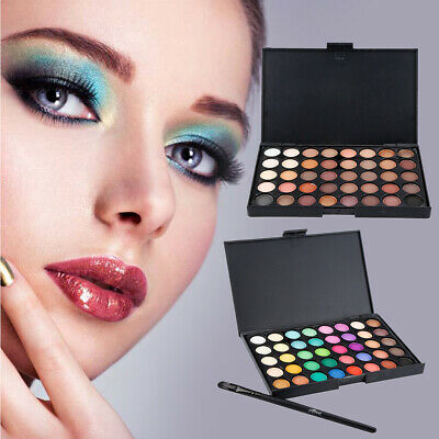 40 Color Cosmetic Matte Eyeshadow Cream Eye Shadow Makeup Palette Shimmer Set ZE