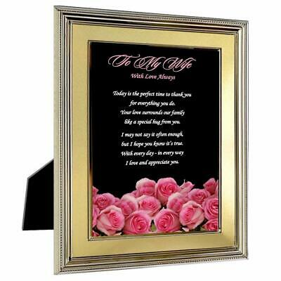 POETRY GIFTS WIFE From Husband Gift With Love Always For Birthday, Mother'S  Day