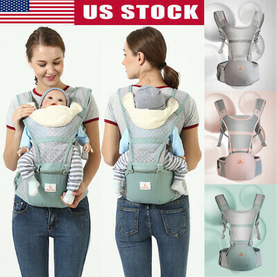 US Infant Baby Front Carrier Breathable Ergonomic Adjustable Wrap Sling Backpack