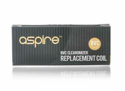 Aspire BVC Replacement Coils Head 1.6, 1.8, 2.1 Ohm Pack of 5 Coils - TPD