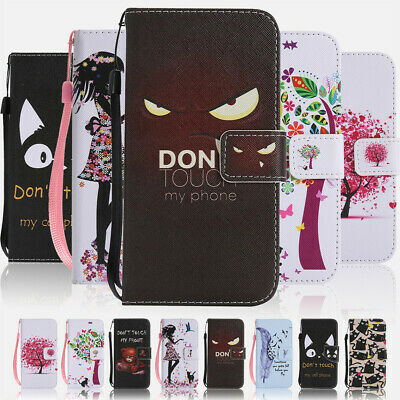 For Apple iPhone XR XS Max Fashion Flip Painted Wallet Leather Stand Case Cover