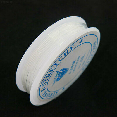 C5D5 Rolls of 7M Clear Elastic Wire Strong Nylon Beading Stretch Cord 0.6mm Thre