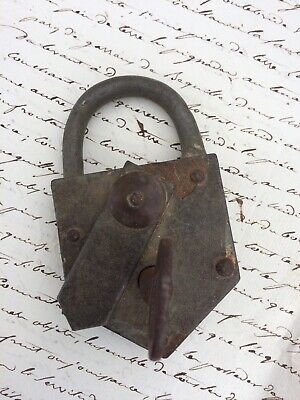 Vintage French Padlock And Key Working Order And Marked With Numbers