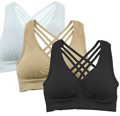 Cabales KINYAOYAO Womens Plus Size Ultimate Comfy Medium Support Sport Bra 3 Pack or 1 Pack