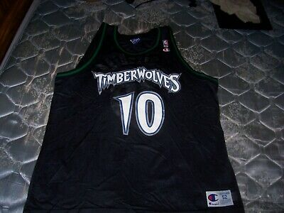 3739bf6d1db1 VINTAGE 90s CHAMPION WALLY SZCZERBIAK TIMBERWOLVES SIZE 52 2XL BASKETBALL  JERSEY