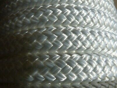 "5/8"" x 100 ft. Double Braid~Yacht Braid polyester Rope. White"