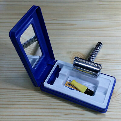 Men's Traditional Classic Double Edge Chrome Shaving Safety Razor + Blade TOP