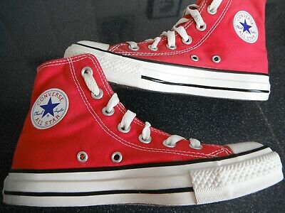 ac6217fc438d4 SUPERBE BASKETS Montantes CONVERSE ALL STAR Toile Rouge Pointure 36 ...