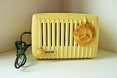 VINTAGE Art-Deco Radio MIDGE model 5308 Bakelite-1949