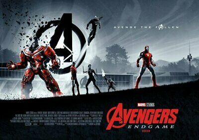 "Avengers Endgame AMC IMAX mini poster 11"" x 15.5 ""  set of 2 posters weeks 1, 2"
