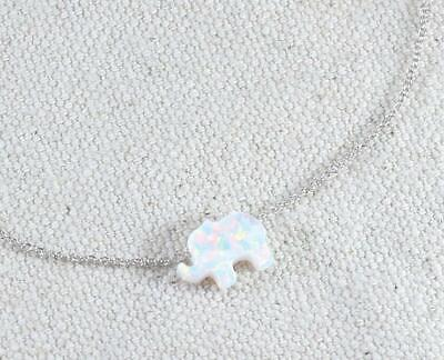 """17/"""" Teeny Tiny Owl Pendant Necklace with White /& Black Diamonds Sterling Silver"""