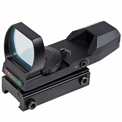Truglo 5 MOA Reticle Dual-Color Red-Dot Sight with Adjustable Rheostat - Black