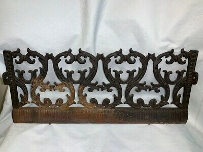 "Dawson Bros. Wrought Iron Antique Fire Place Ornament - 17"" L"