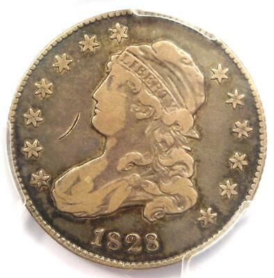 1828 Capped Bust Quarter 25C - PCGS VF Details - Rare Coin - Scarce Date!
