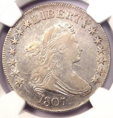 1807 Draped Bust Half Dollar 50C Coin - NGC XF Detail - Nice Luster - Near AU!