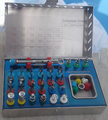 Dental Surgical Combo Drills kit 28 PCs Trephine sets Torque 2p / Implant Kit 28