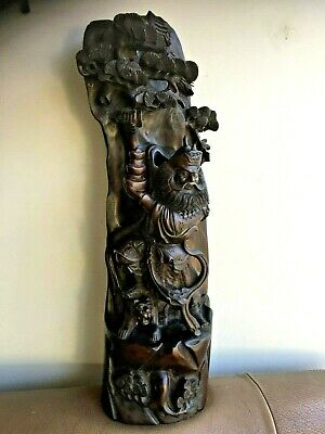 "Antique Chinese  Zitan? Rozwood? Wood Huge 19.5""H  Statue"