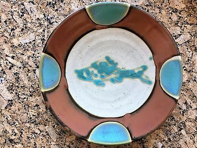 "Antique Asian Chinese Japanese H/Made Huge 15.25""D Pottery Plate Plaque Charger"