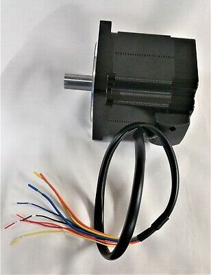 Frame Size 80 mm 24 Volt 2,800 rpm High Torque Brushless 3-Phase DC Motor