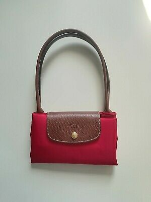 92988c5af0531 Longchamp Le Pliage Shopping Bag S Tasche Pink Rot Himbeere Wassermelone  NEU!
