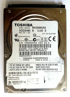 Toshiba MK2546GSX 5400RPM 3.0Gp//s 250GB SATA 2.5 HDD
